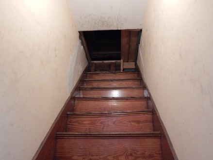 stairs open to attic